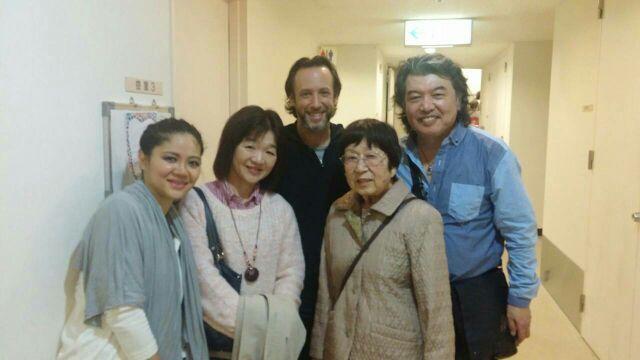 石川先生のお母様が来てくれました